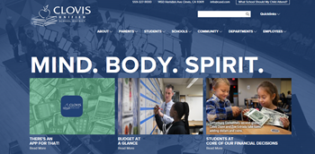 Clovis Unified School District Website Image