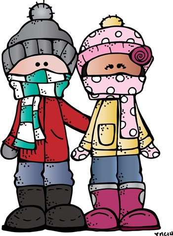 Students in winter coats