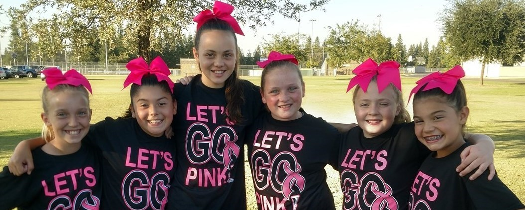 cheer at pigskin for pink