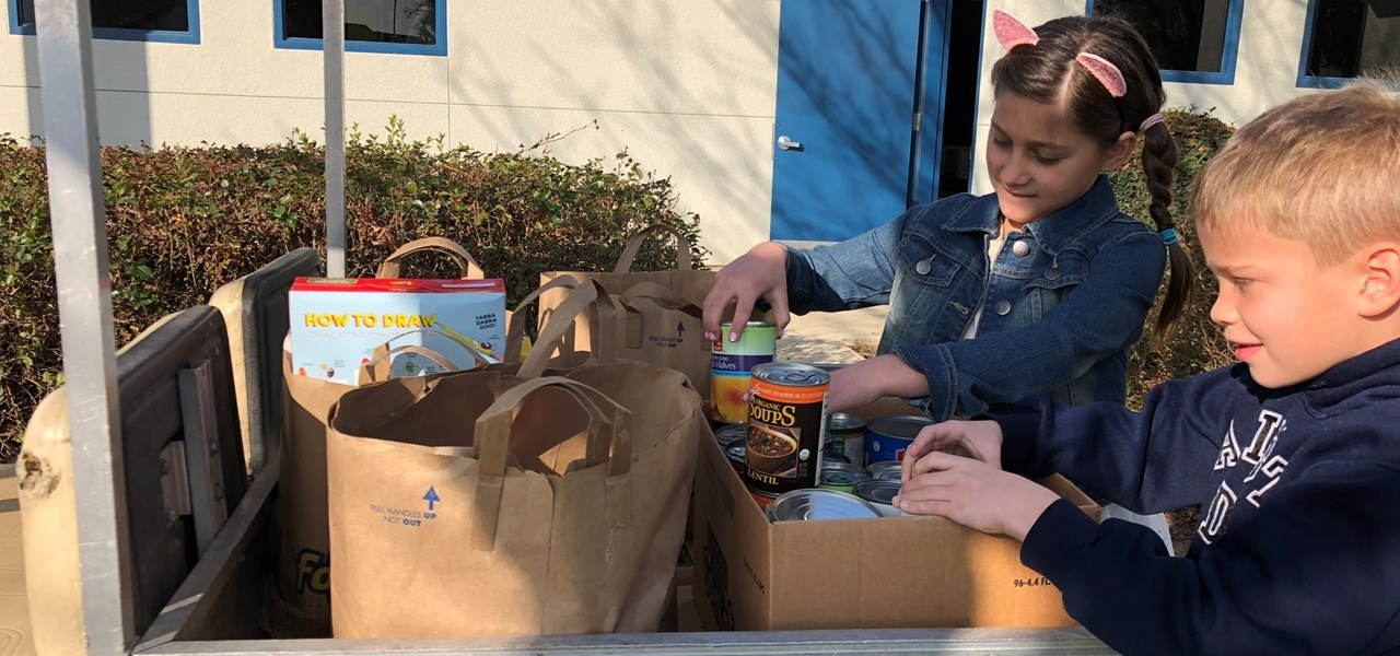 Freedom Elementary food drive